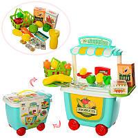 Магазин 8341 37-40,5-17,5 см, тележка, продукты, корзинка, 29 деталей