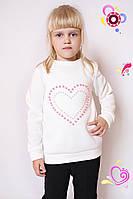 Свитшот детский Бусы Сердце, свитшот, детский свитшот, детская одежда, дропшиппинг