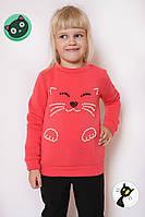 Свитшот детский Кот флис, свитшот, детский свитшот, детская одежда, дропшиппинг