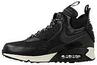 Мужские высокие кроссовки Nike Air Max 90 Sneakerboot Найк Аир Макс 90 Сникербут черные