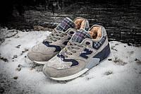 Мужские зимние кроссовки New Balance 999 Winter (Нью Баланс) с мехом серые