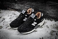 Мужские зимние кроссовки New Balance 999 Winter (Нью Баланс) с мехом черные