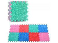 Детский коврик мозаика с массажной текстурой