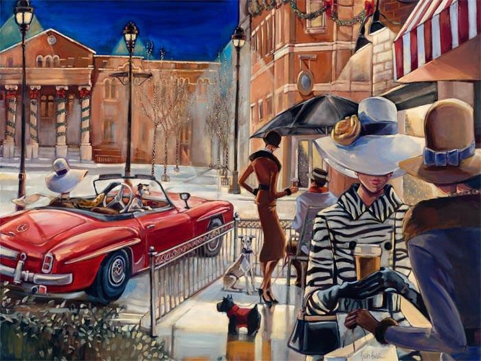 Картина по номерам «Идейка» (КН2121) Городской гламур (Триш Биддл), 50x40 см