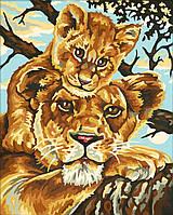"""Картина по номерам «Schipper» (9240383) художественный творческий набор """"Львица с львёнком"""", 24х30 см"""