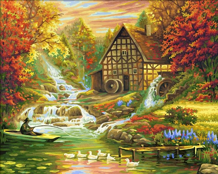 Картина по номерам «Schipper» (9130507) Золотая осень, 50х40 см