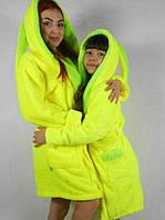 Махровый халат для мамы и дочки