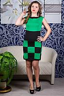 Платье Шахматка (ментол) Код:527687413