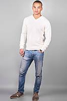 Мужской свитер (белый) Код:527688020