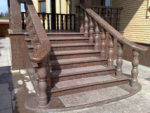 Облицовка лестниц и крылец гранитом