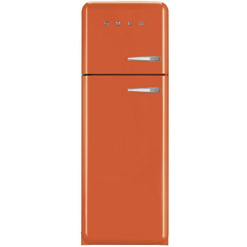 Отдельностоящий двухдверный холодильник, стиль 50-х годов Smeg FAB30LOR3 оранжевый