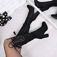 Сапоги женские Lavina черные ЗИМА 3785, зимняя обувь