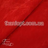 Ткань Замша на трикотаже (красный)