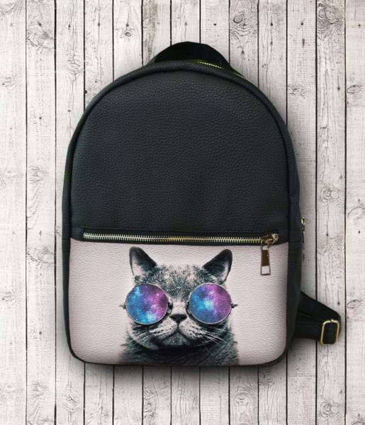 Городской рюкзак с принтом Галактического кота