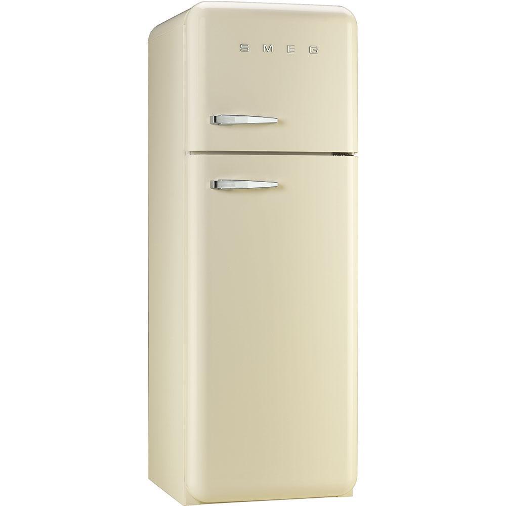 Отдельностоящий двухдверный холодильник, стиль 50-х годов Smeg FAB30RCR3 кремовый