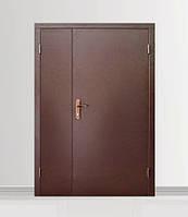 Двери входные полуторные металлические Техническая / 2 листа металла
