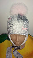 Красивая зимняя шапочка для девочек, фото 1