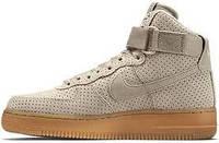 """Мужские кроссовки Nike Air Force Hi Grey """"Suede Spring"""""""