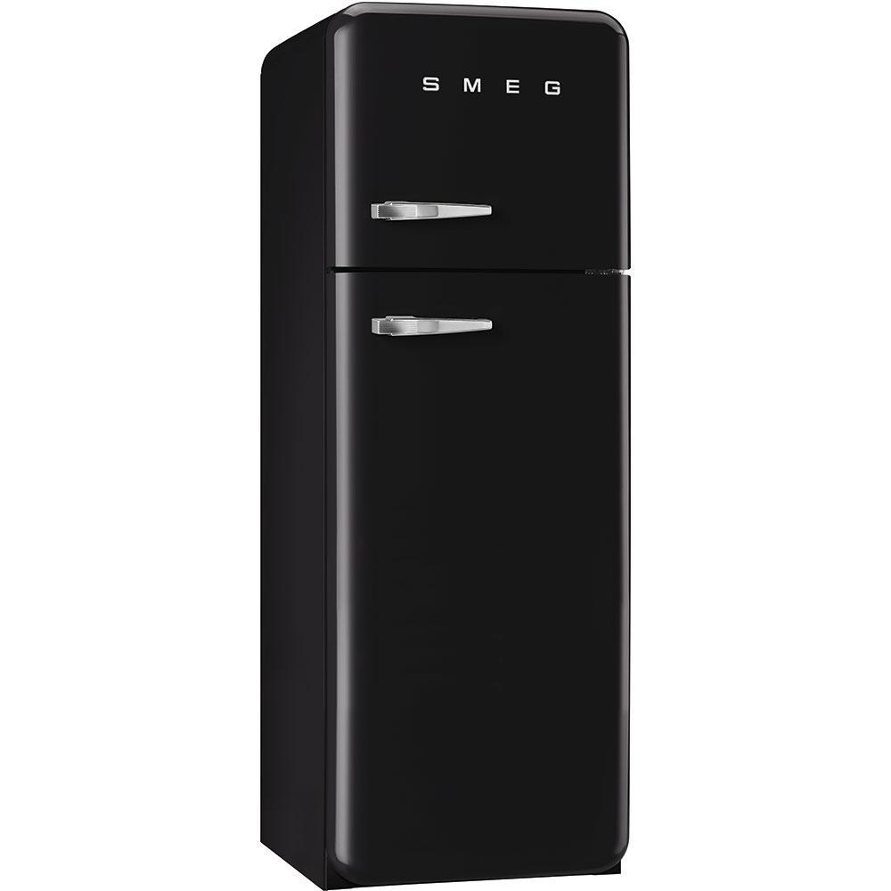 Отдельностоящий двухдверный холодильник, стиль 50-х годов Smeg FAB30RBL3 черный
