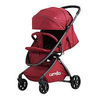 Коляска прогулочная CARRELLO Magia CRL-10401 Brown алюм рама, резиновые колеса Red