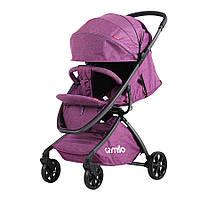 Коляска прогулочная CARRELLO Magia CRL-10401 Brown алюм рама, резиновые колеса Purple