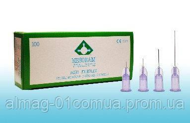 MESORAM Игла для микроинъекций 30G (0,30 х 13) ультратонкая стенка 100 шт.