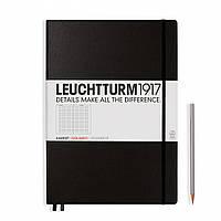 Блокнот Leuchtturm1917 Большой Classic Чёрный В клетку (22,5х31,5 см) (307959), фото 1