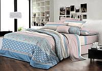 Двуспальный комплект постельного белья евро 200*220 хлопок  (7905) TM KRISPOL Украина