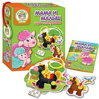 """Настільна гра Vladi Toys """"Мама і малюк"""" Ферма"""
