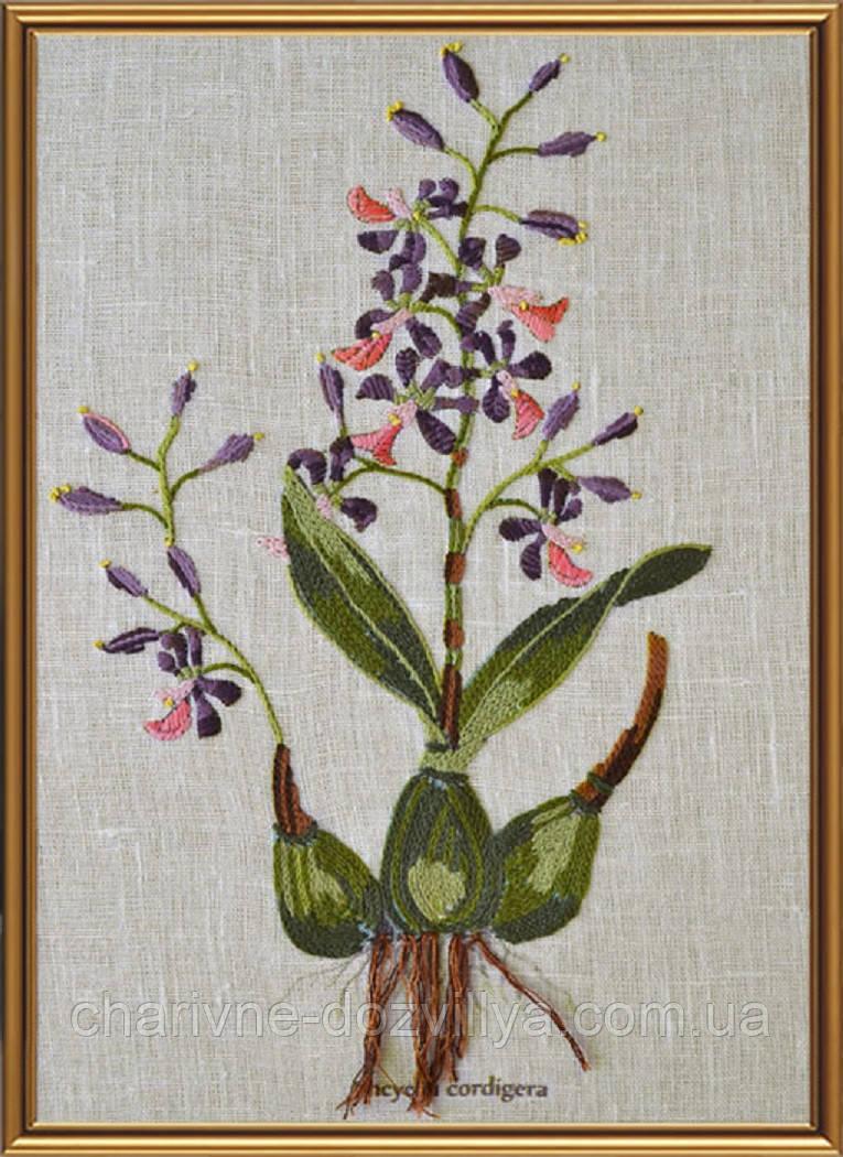Набор для вышивания смешанной техникой Ботаника. Энциклия сердценосная