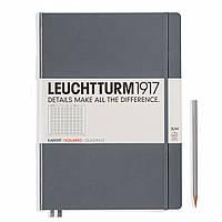 Блокнот Leuchtturm1917 Великий Slim Антрацит В клітку (22,5х31,5 см) (344814) (4004117424991), фото 1