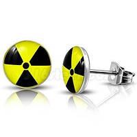 """Серьги из медицинской стали """"Radioactive"""", фото 1"""