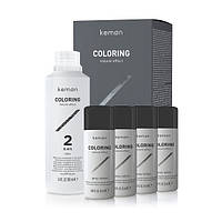 Набор для камуфлирования седых волос для мужчин KEMON Coloring Grey Mousse