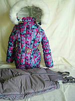"""Зимний костюм """"Эльза"""" для девочки бабочки мятный. Размеры 1-2-3-4 года"""