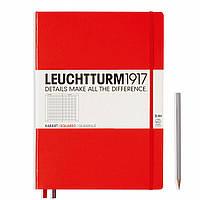 Блокнот Leuchtturm1917 Большой Slim Красный В точку (22,5х31,5 см) (349270), фото 1