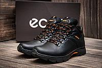 Зимние мужские ботинки Ecco Natural Motion, черные, натуральная кожа
