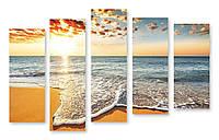 Модульная картина берег и море