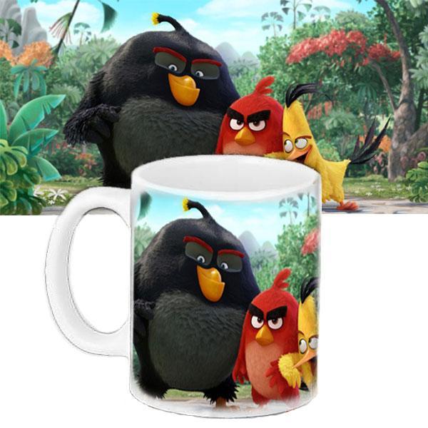 Кружка дитяча з принтом Angry Birds