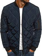 Куртка-бомбер, темно-синий