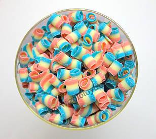 """Декор из бельгийского шоколада """"Завиток разноцветный"""" 100 г."""