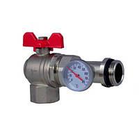 Кран шаровой Fado угловой c термометром 1' N70209192