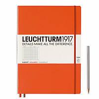 Блокнот Leuchtturm1917 Большой Slim Оранжевый В клетку (22,5х31,5 см) (347171), фото 1