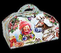 """Коробочки для подарков новогодние """"Сундук Зимовий"""" для сладостей 500 г"""