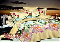 Постельное бельё полуторное 150*220 хлопок (4648) TM KRISPOL Украина