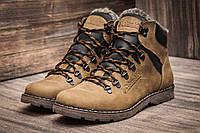 Зимние ботинки мужские Columbia, на меху, кожаные, оливковые
