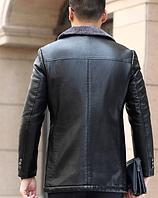 Чоловіча шкіряна куртка. Модель 61665, фото 3