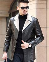 Чоловіча шкіряна куртка. Модель 61665, фото 4