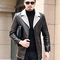 Чоловіча шкіряна куртка. Модель 61665, фото 5