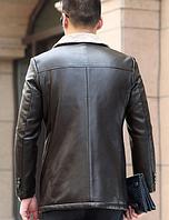 Чоловіча шкіряна куртка. Модель 61665, фото 6