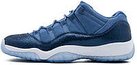 Женские кроссовки Nike Air Jordan 11 Retro Low GS Blue Moon GG XI (Найк Аир Джордан) синие